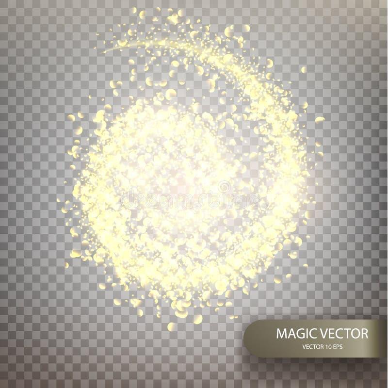 Fundo luminoso do vetor mágico ilustração do vetor