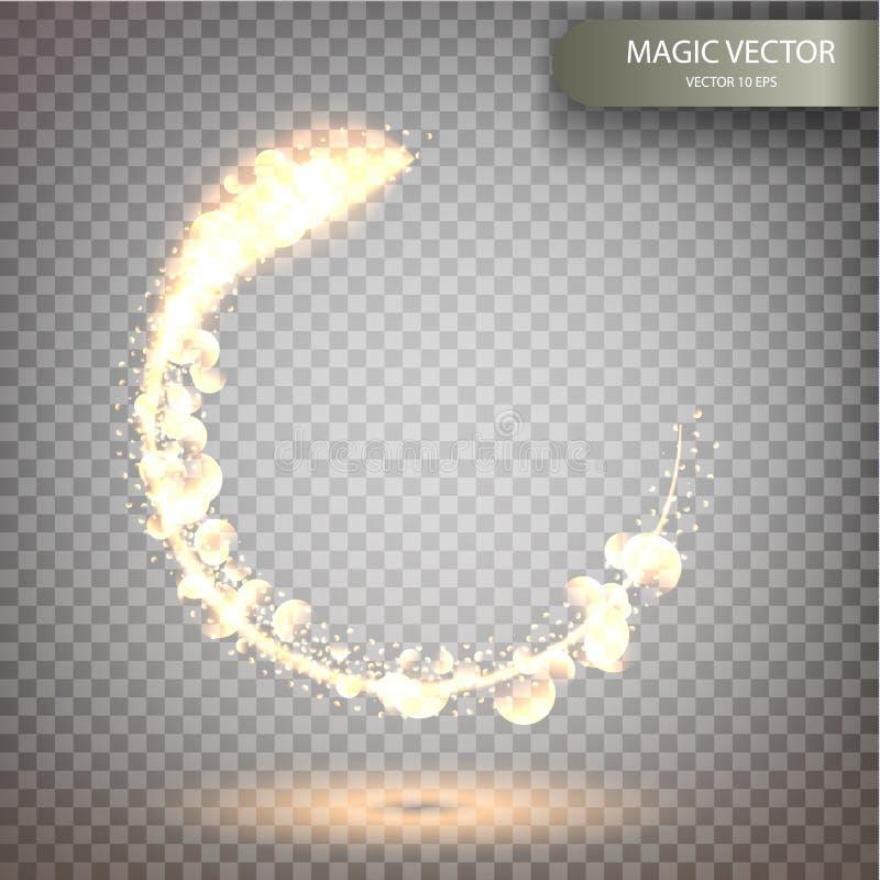Fundo luminoso do vetor mágico ilustração royalty free