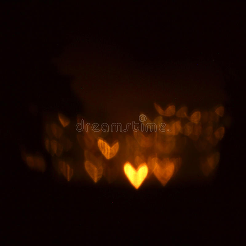 Fundo luminoso dos corações fotografia de stock