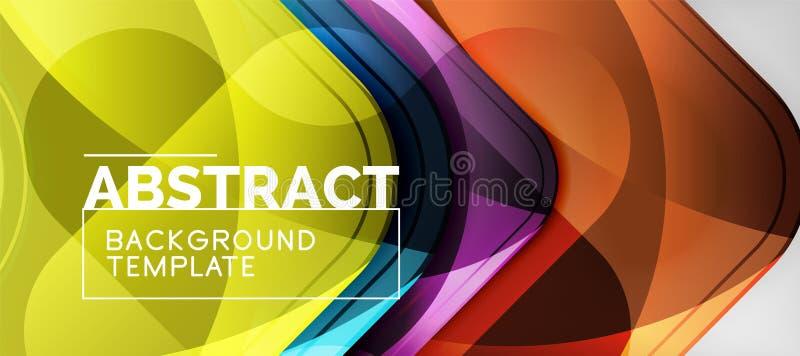 Fundo lustroso brilhante das setas, projeto geométrico moderno limpo, composição futurista ilustração stock