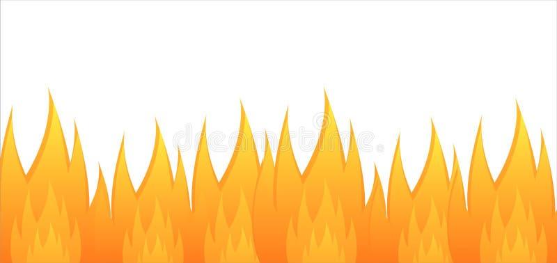 Fundo lustroso do incêndio ilustração royalty free