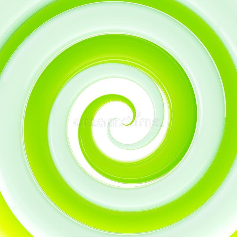 Fundo lustroso verde fresco colorido do twirl ilustração stock