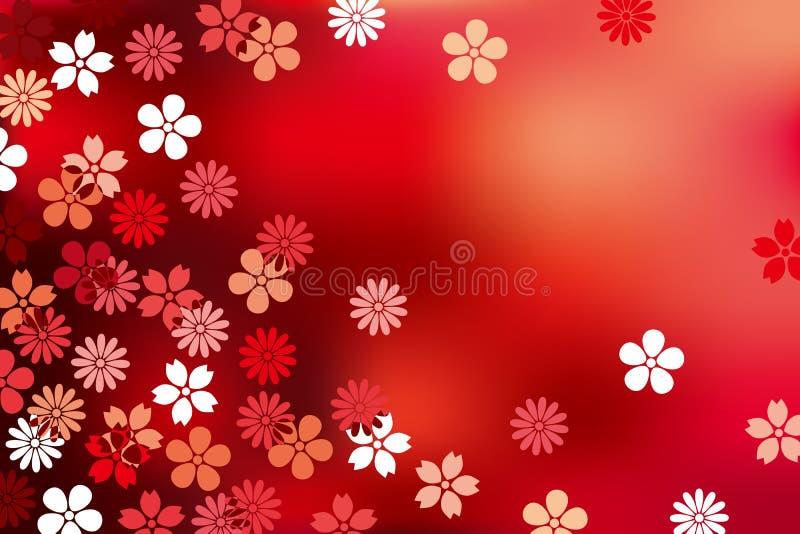 Fundo luxuoso abstrato da flor ilustração do vetor