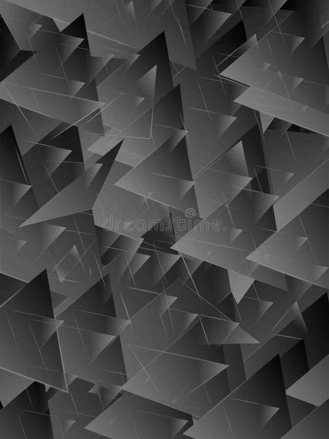 Fundo luxuoso cinzento do teste padrão abstrato do triângulo ilustração royalty free
