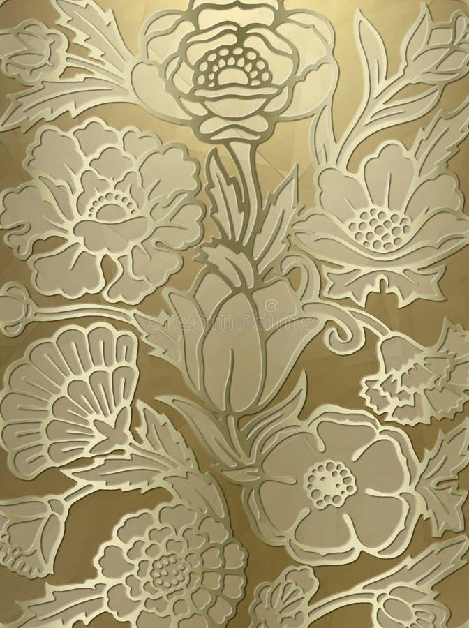Fundo luxuoso da cópia floral ilustração do vetor