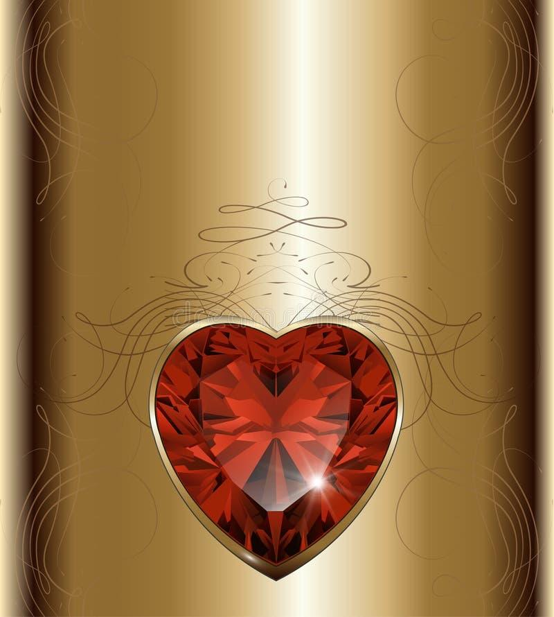 Fundo luxuoso do ouro ilustração do vetor