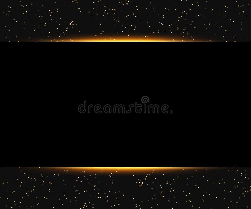 Fundo luxuoso do preto e do ouro Projeto para a apresentação, conce ilustração stock