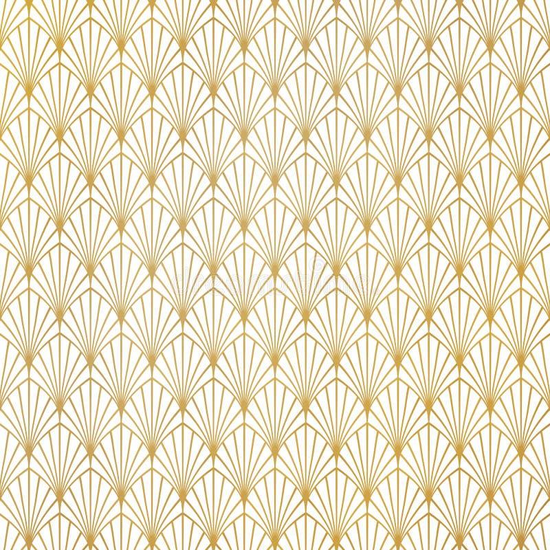 Fundo luxuoso do projeto do teste padr?o abstrato do art deco do ouro Voc? pode usar-se para o fundo superior, an?ncio, cartaz, p ilustração stock