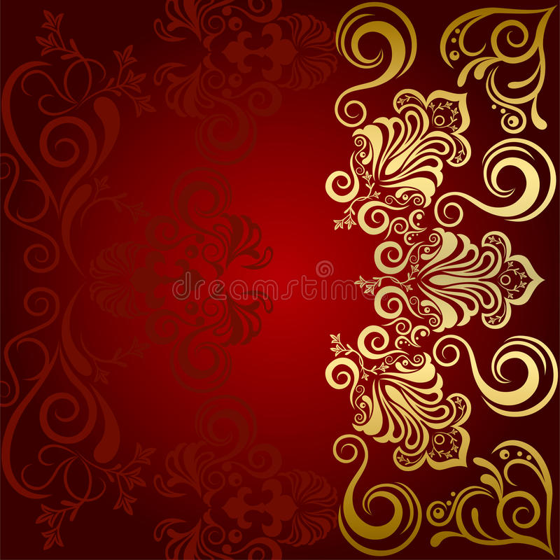 Fundo luxuoso floral abstrato ilustração do vetor