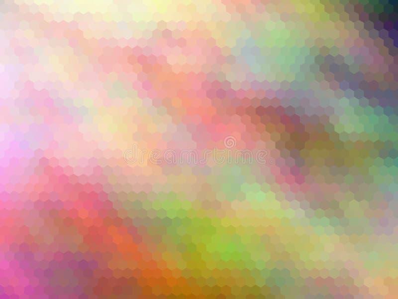 Fundo luxuoso novo Multicolorido, pixeled sextavada imagens de stock