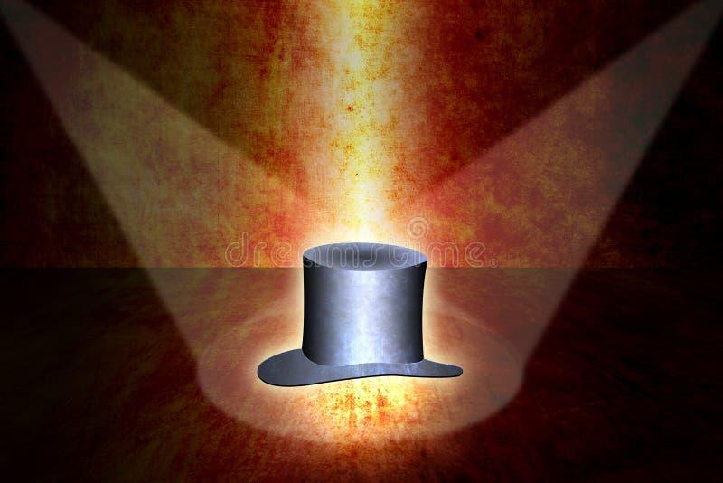 Fundo mágico do chapéu ilustração stock
