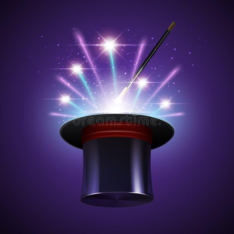 Fundo mágico do chapéu ilustração royalty free