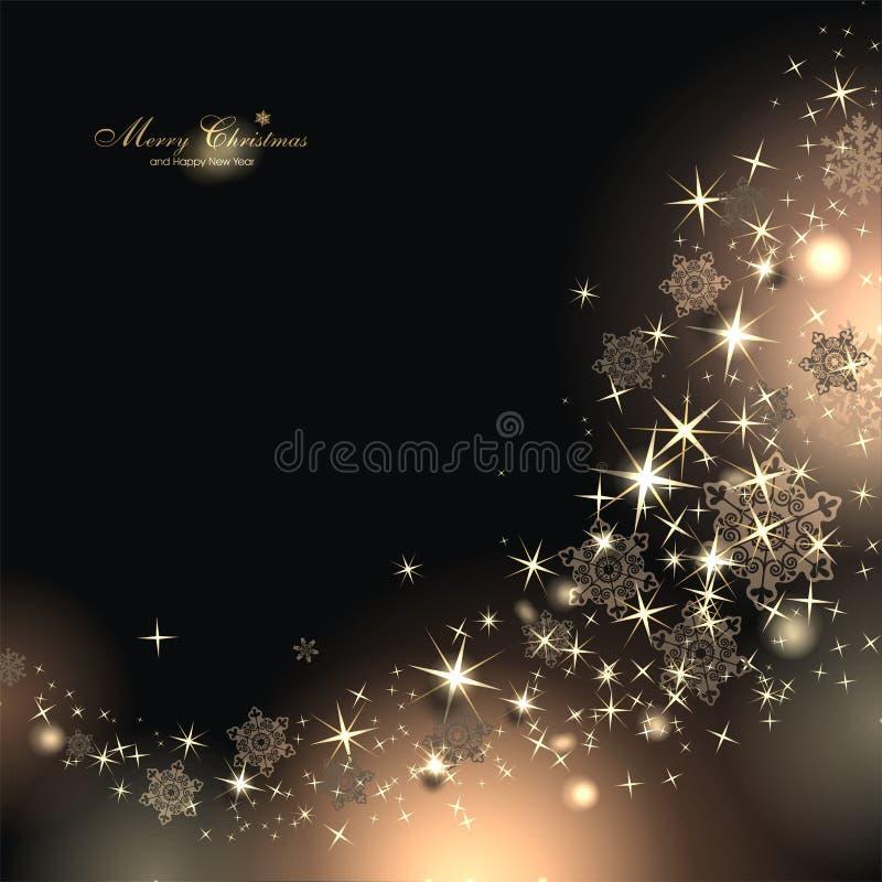 Fundo mágico do Natal ilustração royalty free