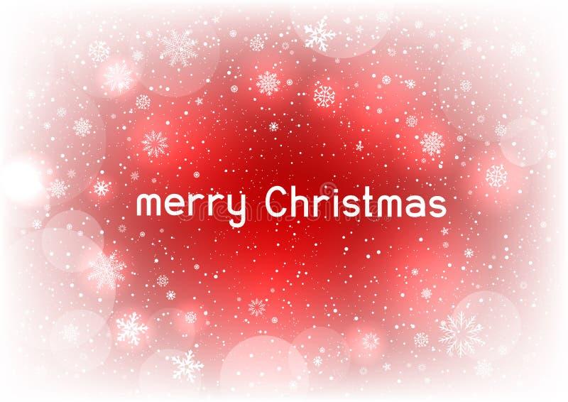 Fundo mágico do vermelho do texto do Natal ilustração royalty free