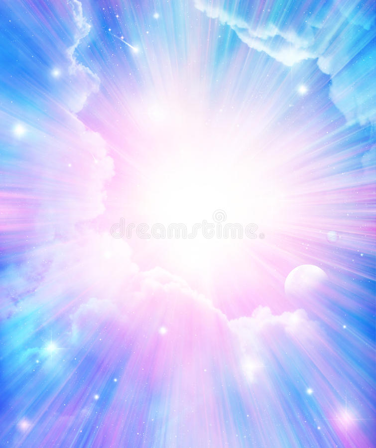 Fundo mágico místico ilustração royalty free