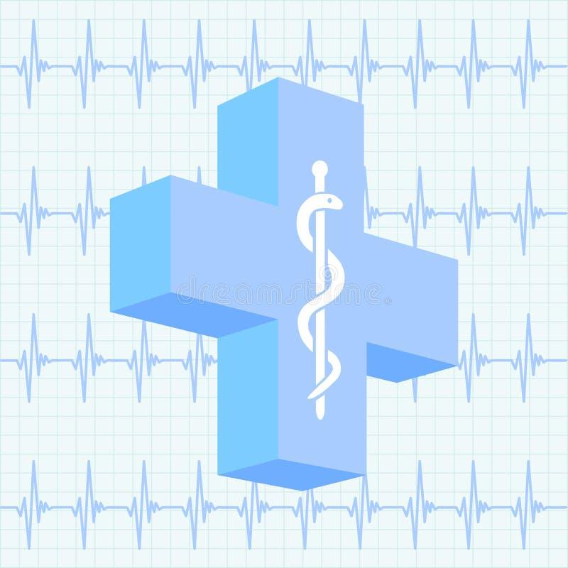 Fundo médico ilustração stock