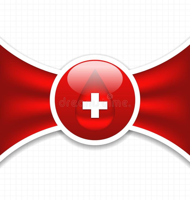 Fundo médico abstrato, doação de sangue ilustração do vetor
