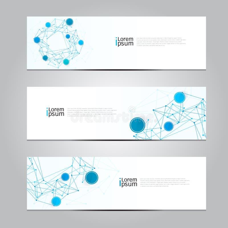 Fundo médico de tecnologia de rede da bandeira do projeto do vetor ilustração do vetor