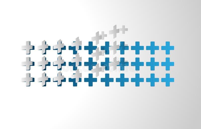 Fundo médico dos símbolos ilustração do vetor