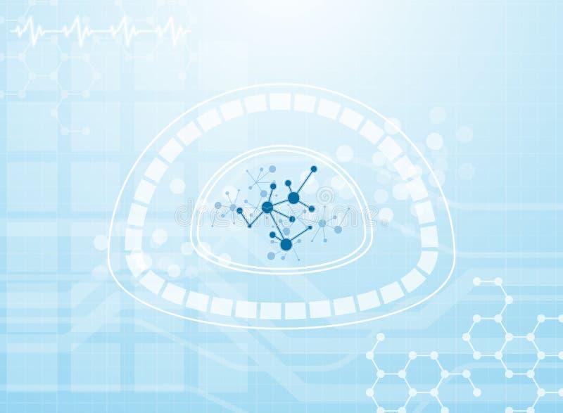 Fundo médico molecular ilustração royalty free