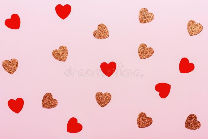 Fundo mínimo do dia de Valentim fotografia de stock