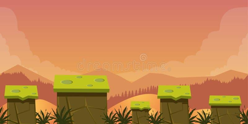 Fundo móvel dos ativos do jogo do App ilustração do vetor