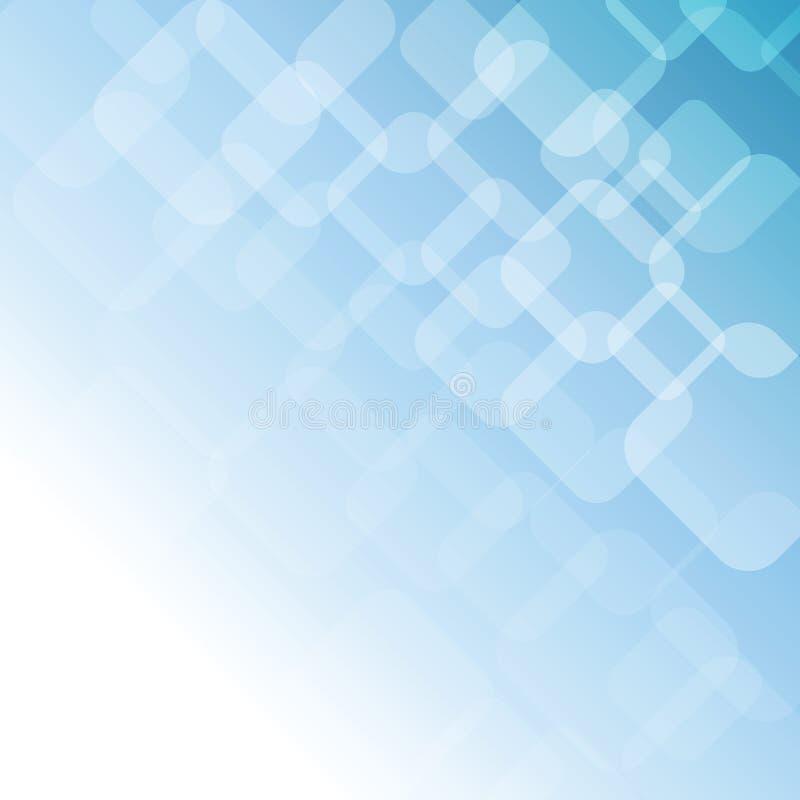 Fundo macio abstrato azul com formas geométricas ilustração stock