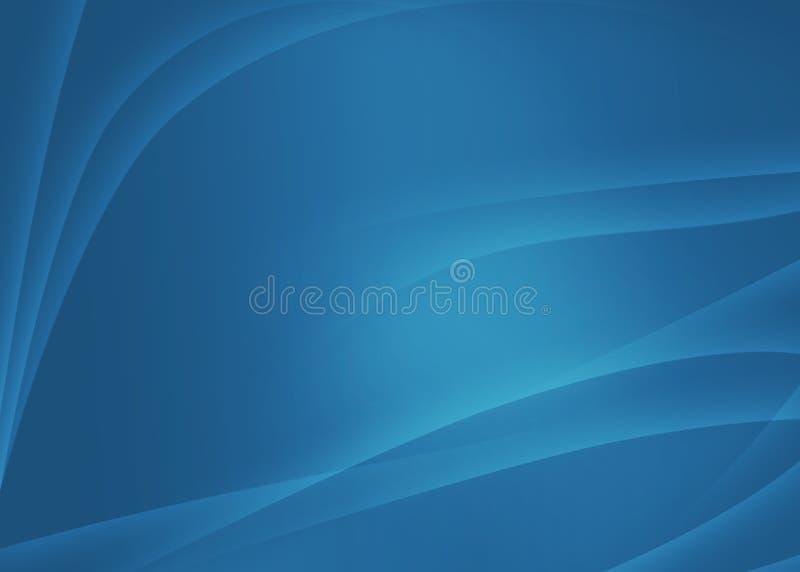 Fundo macio azul abstrato ilustração do vetor