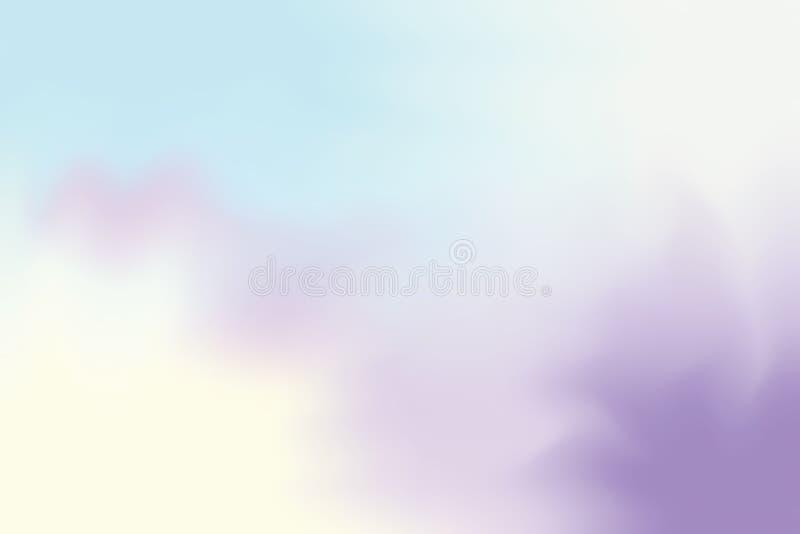 Fundo macio da arte da escova de pintura da cor brilhante colorida abstrata, cor pastel acrílica do papel de parede da cor de águ ilustração stock