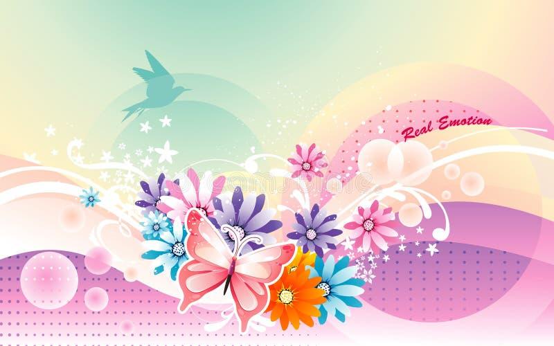 Fundo macio da flor ilustração stock