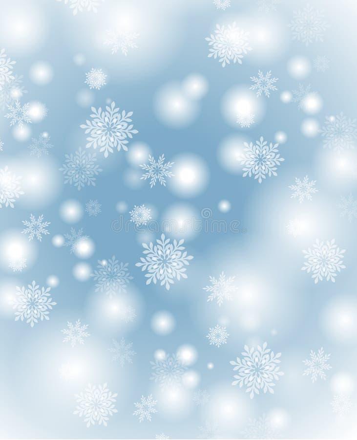 Fundo macio dos flocos de neve ilustração stock