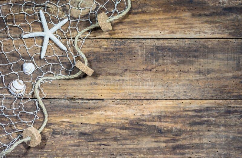 Fundo marítimo náutico da rede de pesca imagem de stock royalty free