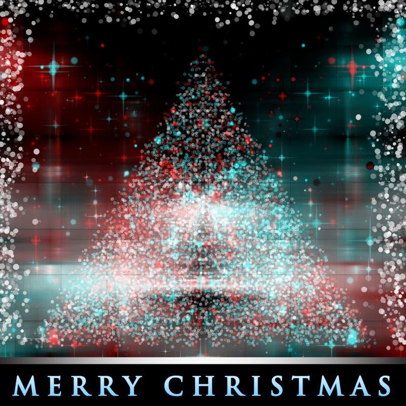 Fundo maravilhoso da árvore de Natal ilustração royalty free