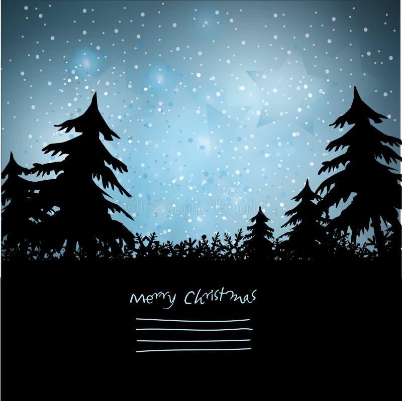 Fundo maravilhoso da paisagem do Natal ilustração stock