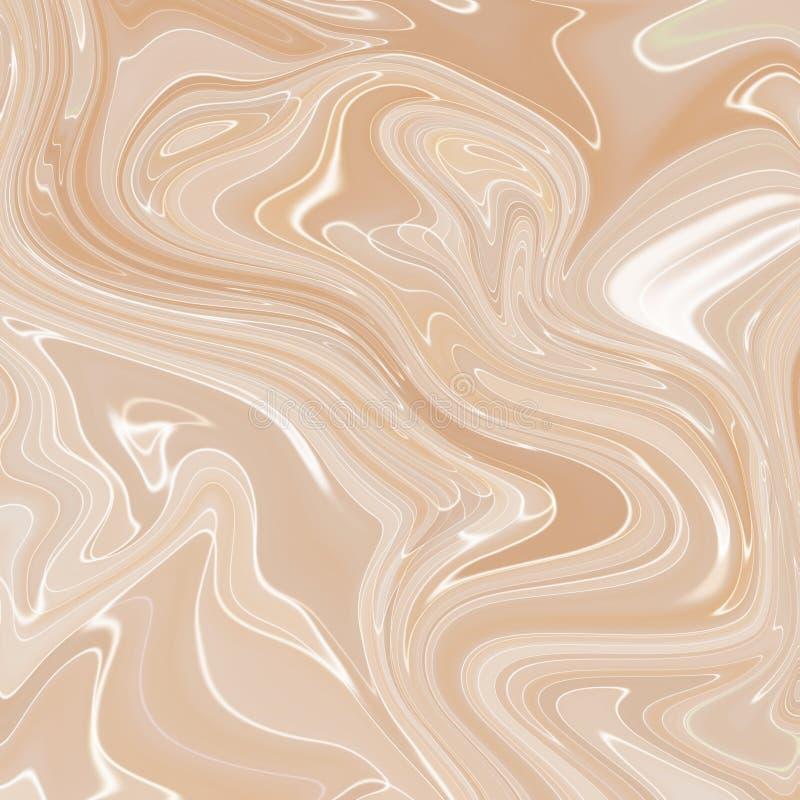 Fundo marmoreando líquido da textura da pintura Textura fluida do sumário da pintura, papel de parede intensivo da mistura da cor ilustração royalty free