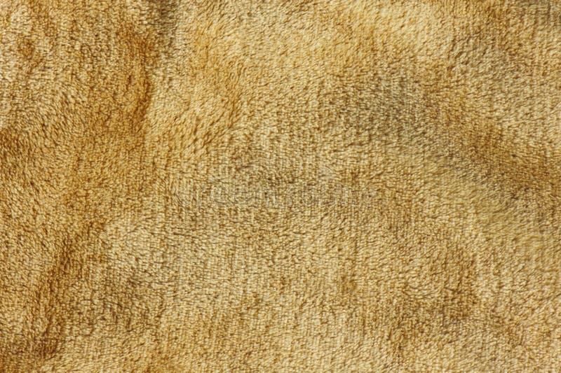 Fundo marrom da textura da pele de lãs fotografia de stock royalty free