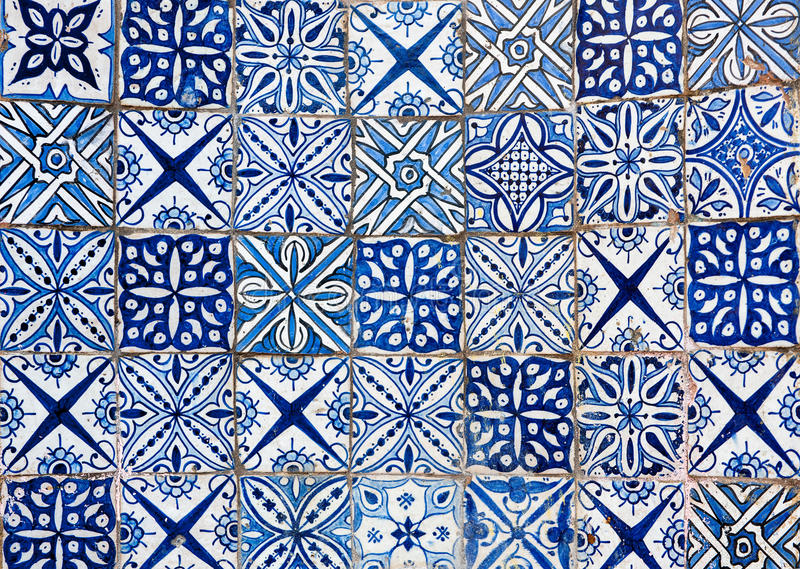Fundo marroquino da telha do vintage ilustração royalty free
