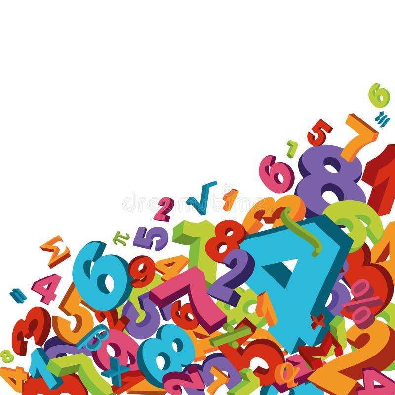 Fundo matemático ilustração royalty free