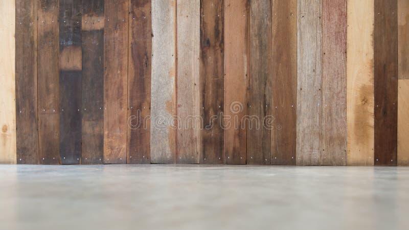 Fundo material de madeira para o papel de parede do vintage Textura de madeira da tabela no interior moderno da casa imagem de stock royalty free