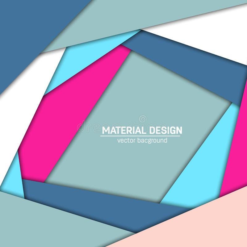 Fundo material do projeto do vetor Molde criativo abstrato da disposição do conceito Para a Web e o app móvel, arte de papel ilustração do vetor