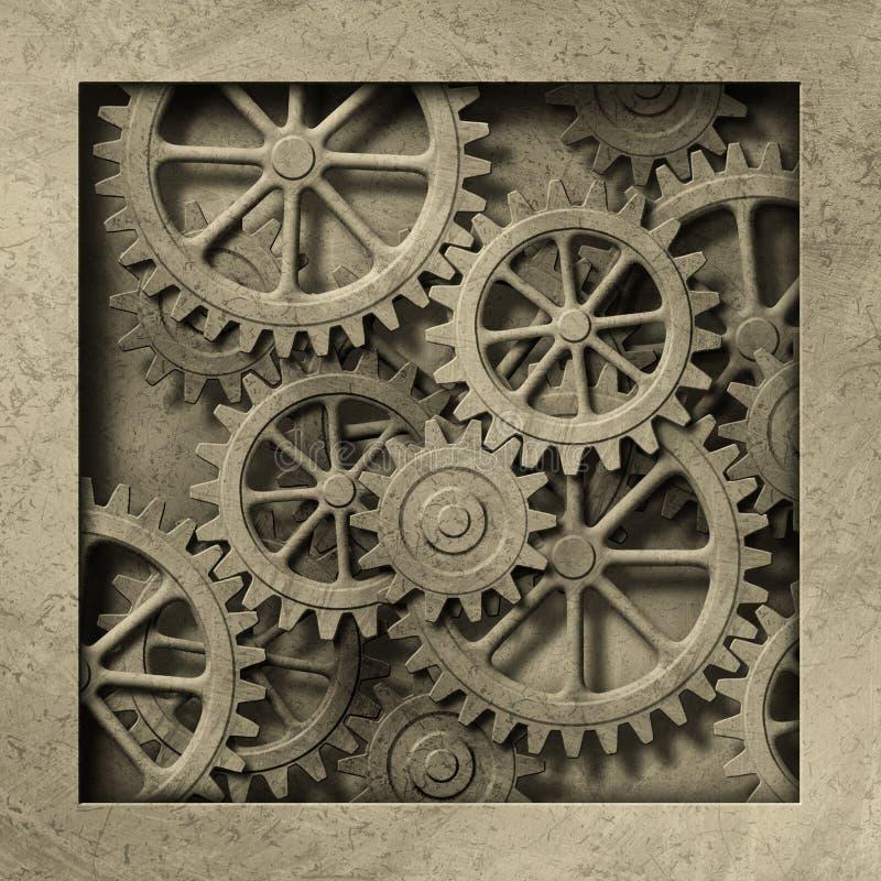 Fundo mecânico ilustração do vetor