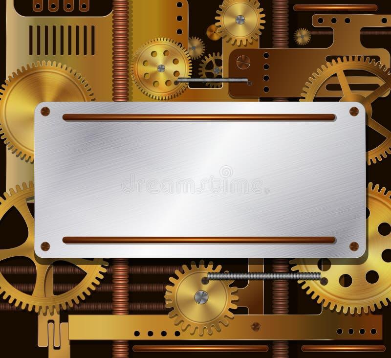Fundo mecânico ilustração stock