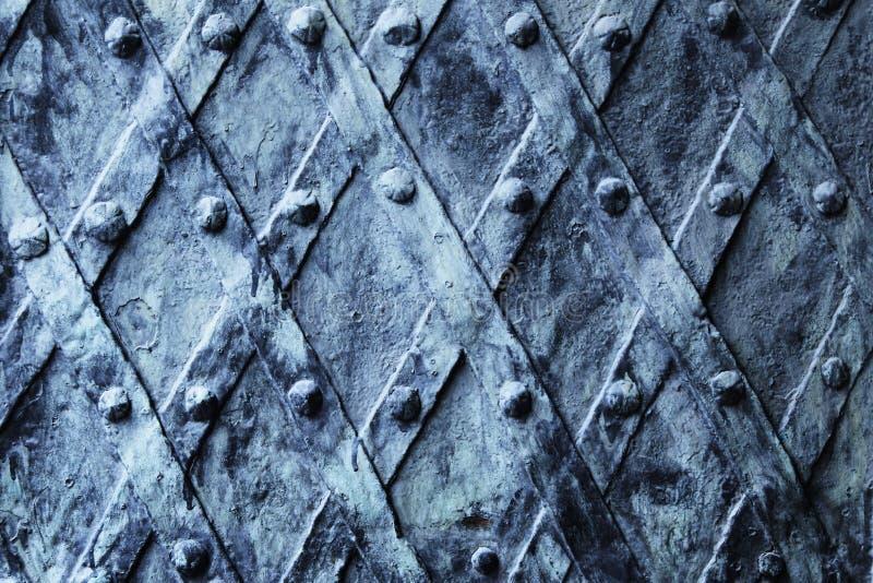 Fundo medieval da porta do vintage do metal fotos de stock