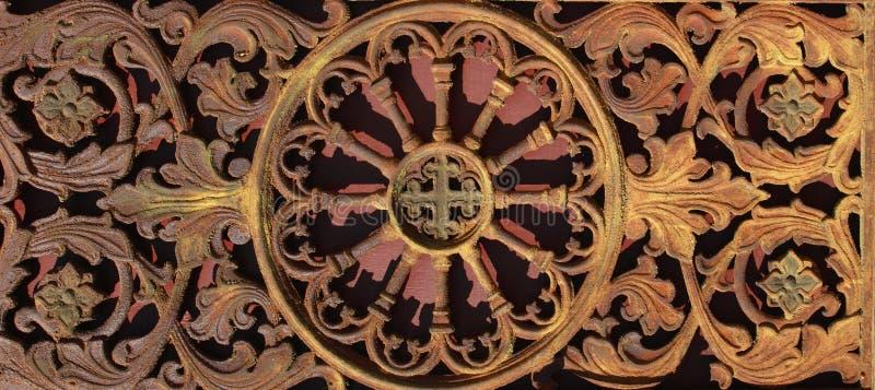 Fundo medieval da porta do vintage do metal (fragmento) fotos de stock royalty free