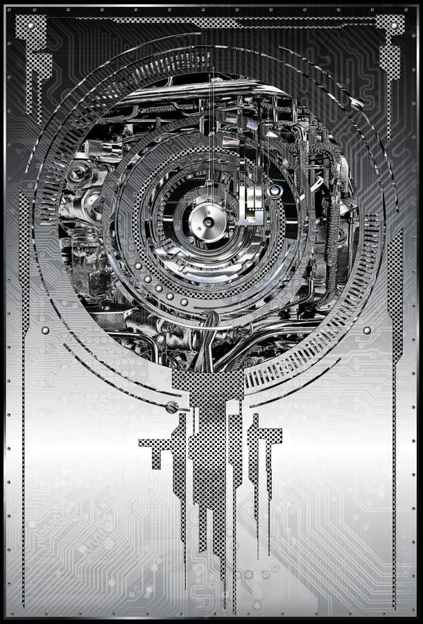 Fundo metálico abstrato ilustração stock