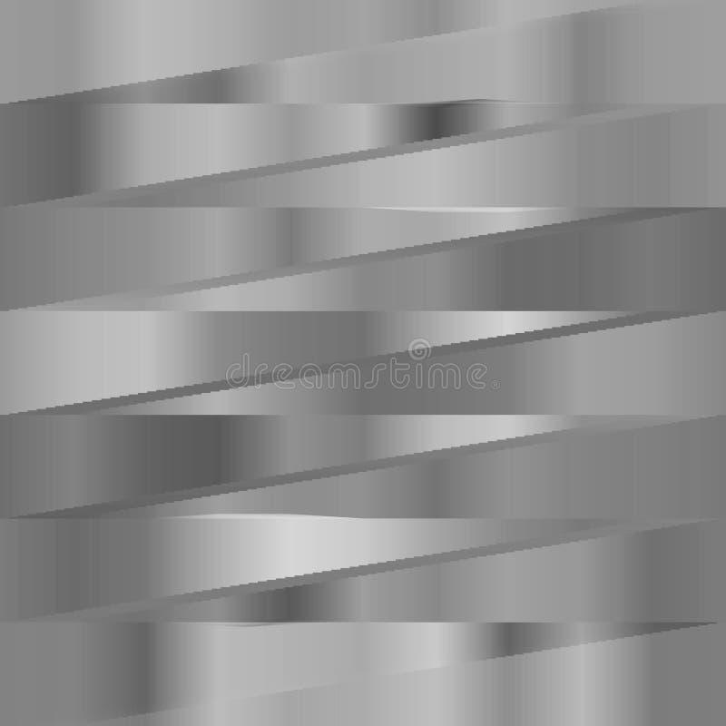 Fundo metálico abstrato das listras de prata ilustração stock