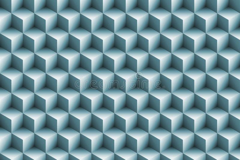 fundo metálico azul dos cubos 3d ilustração do vetor