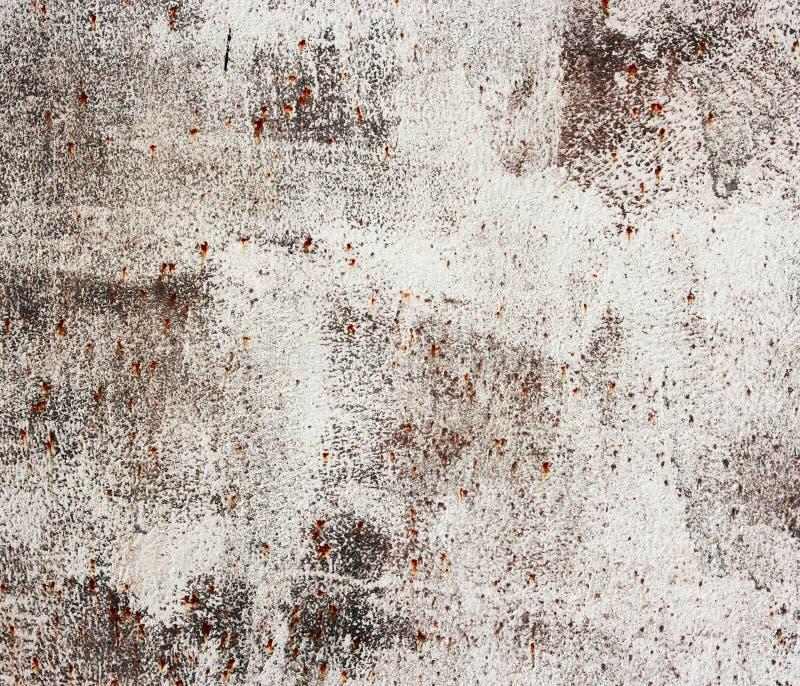Fundo metálico branco oxidado velho. fotografia de stock