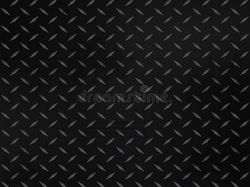 Fundo metálico da placa do diamante ilustração do vetor