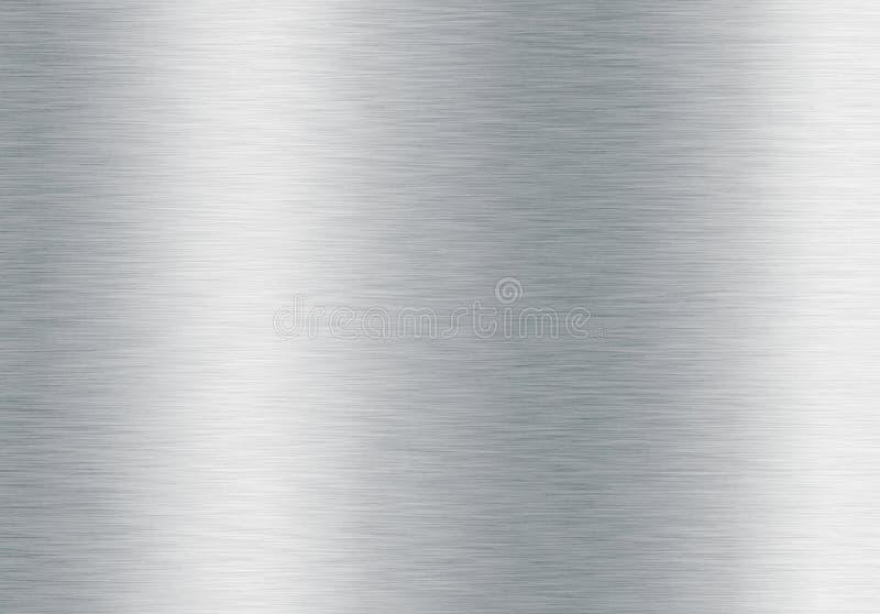 Fundo metálico de prata escovado imagem de stock